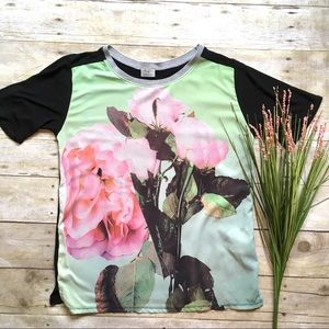 Zara mixed floral photo tee